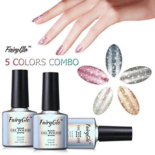 fairyglo-5-colours-gel-nail-polish-uv-led-soak-off-platinum-varnish-bling-lacquer-nail-art-gift-set-