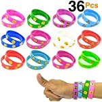 OHill OHill 48 Pack Emoji Emoticons Silicone Wristbands Bracelets Kids Birthday Party Supplies Favors Prize Rewards Kids Size