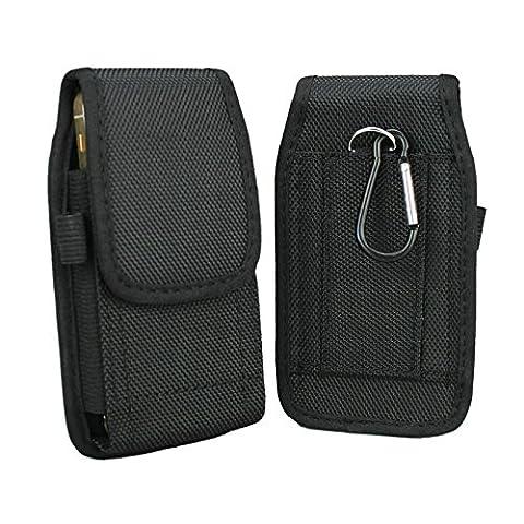 iPhone 5S Holster, aubaddy Étui en nylon avec étui de ceinture pour iPhone 5/5C/SE (Noir)