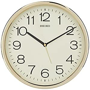 Seiko Plastic Case Wall Clock (Gold, QXA014A)