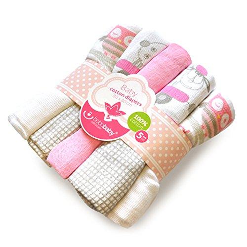 bobobaby-baby-madchen-5-spucktucher-80x80cm-aus-100-baumwolle-rosa-mit-eule-in-geschenkbeutel-piel-5
