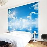 Apalis Vliestapete Above Sea Level Fototapete Quadrat | Vlies Tapete Wandtapete Wandbild Foto 3D Fototapete für Schlafzimmer Wohnzimmer Küche | Größe: 240x240 cm, blau, 97476