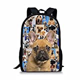 Showudesigns Gray Trendy Fashion Printing Family Dog Backpack Latest Design