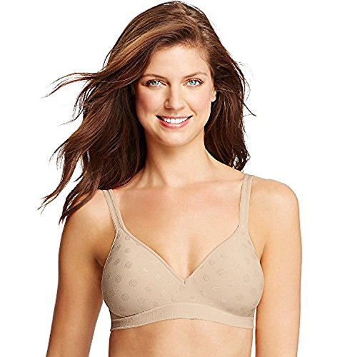 Hanes Perfect Coverage ComfortFlex Fit Wirefree Bra_Soft Taupe_L -