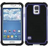 kwmobile Hülle für Samsung Galaxy S5 / S5 Neo / S5 LTE+ / S5 Duos - Hybridhülle Dual Case Handy Schutzhülle TPU Silikon - Hybrid Cover Blau Schwarz