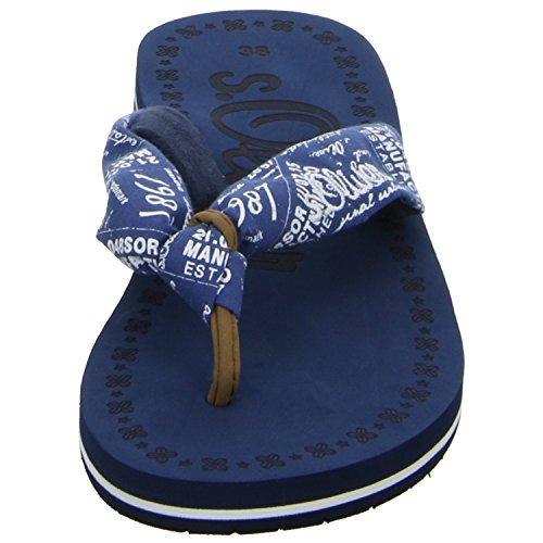 Damen Blau bis 77103 Blau 30mm Absatz 26 5 Pantolette s 859 Oliver PqX6SS
