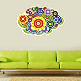 K2N Mutlicolor Round Wall Clock 3d Mirror Sticker Big Watches Home Office Decorations
