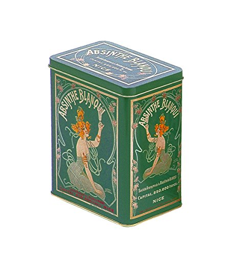 Franzosich Vintage Metallbox 12X8X15Cm Retro Werbung Alkohol Blanqui Absinth