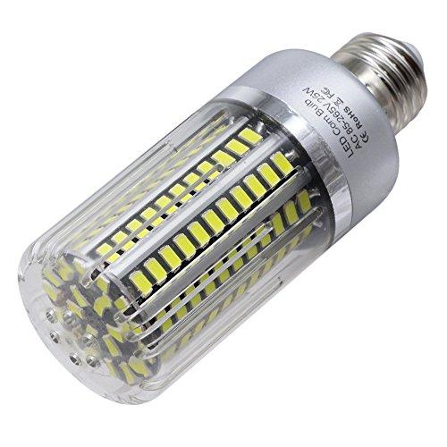 Illuminazione a LED Lampadina a LED E26 / E27 130LED 25W Lampada di Ricambio a 240 W alogena a LED Lampada a LED a lume di Candela TONGDAUR (Taglia : Bianco Freddo)