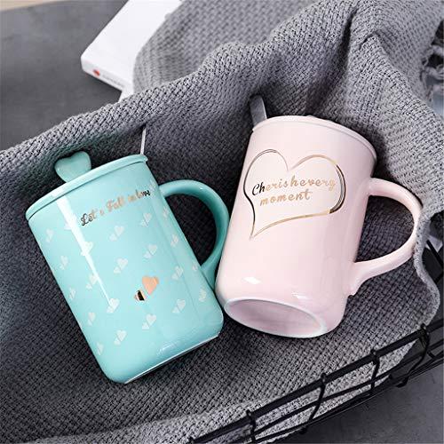 Coffret Portable Coffret Amour Couples pour Couple Coréen pour Hommes Et Femmes Céramique Coupe Amoureux De l'or Coupe Cadeau