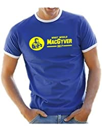 MACGYVER what would Mac Gyver do ? DRUCK : GELB - T-SHIRT shirt S M L XL XXL