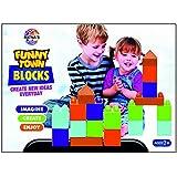 Ratna's Funny Town Junior Multicolour Plastic Blocks For Kids