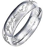 Inception Pro Infinite Herr der Ringe Ring mit innen und außen schreiben - Silber Geschenkidee (DE 59)