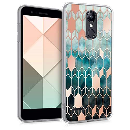 kwmobile LG K8 (2018) / K9 Hülle - Handyhülle für LG K8 (2018) / K9 - Handy Case in Glory Design Blau Rosegold