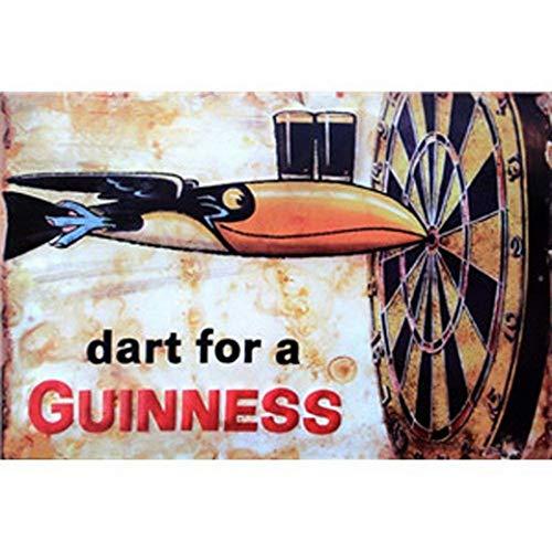 Lorenzo Dart for A Guinness Vintage Metal Vintage Metallblechschild Wand Eisen Malerei Plaque Poster Warnschild Cafe Bar Pub Bier Club Dekoration -