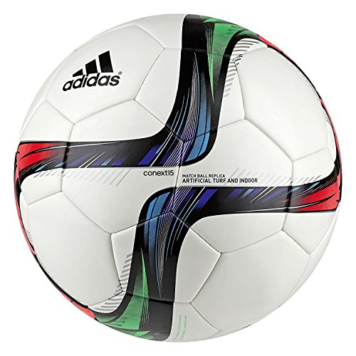adidas Fußball Conext15 Artificial Turf, Top:White/Night Flash S15/Flash Green S15/Black Bottom:Silver Met./Bold Red/Flash Red S15/Light Blue, 5, M36902