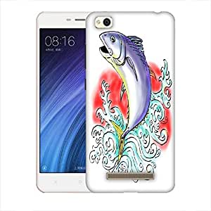 Snoogg Bluefin Tuna Jumping With Waves Designer Protective Back Case Cover For Xiaomi Redmi 4A