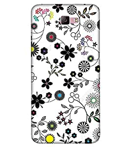 Flowers, Black, Leafs, Amazing Pattern, Printed Designer Back Case Cover for Samsung Galaxy A5 - 2017 :: Samsung Galaxy A5 (2017) :: Samsung Galaxy A5 2017