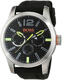 BOSS Orange Herren-Armbanduhr PARIS Analog Quarz Silikon 1513378
