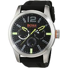 Boss Orange Paris–Reloj de pulsera de hombre analógico de cuarzo silicona 1513378