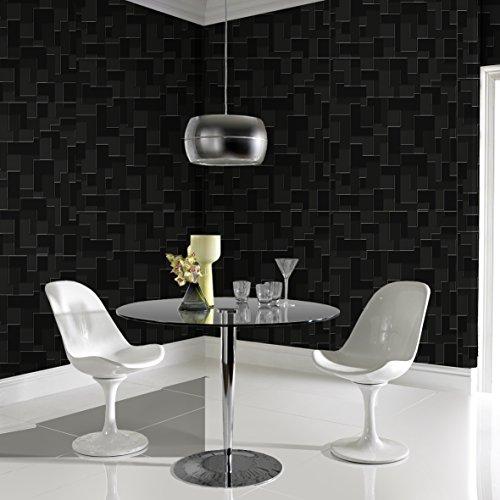 Papier Peint Expansé Intissé Checker Noir