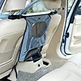 Pet Net Barrier Dogs Backseat Seat Barrier Mesh Obstacle Dog Car Fence Mesh to Keep Your Pets and Drivers Safety inTravel One Size Fit Most Easy to Install for Car SUVs Trucks (Grey)