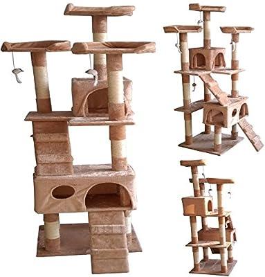 Petzone Premium Cat Kitten Tree Scratching Post Activity Centre Bed Toy Model17