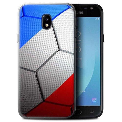 Stuff4 Coque Gel TPU de Coque pour Samsung Galaxy J3 2017/J330 / France/Français Design/Nations de Football Collection