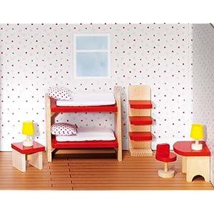 Goki 51719 - Puppenmöbel Kinderzimmer