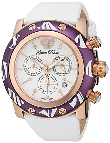 Glam Rock GR10516 - Reloj de Pulsera Mujer, Color Blanco