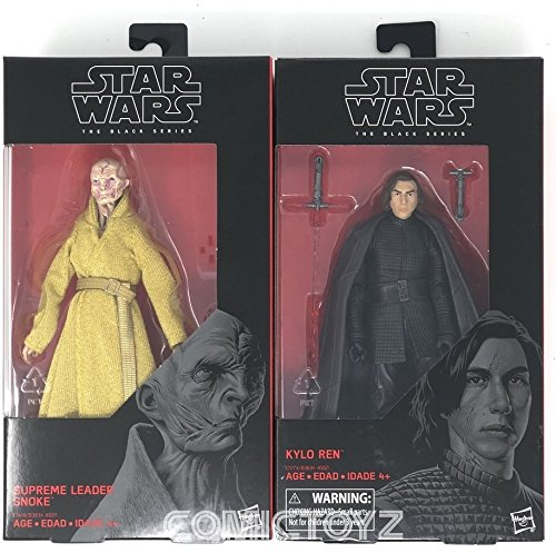 "COMICTOYZ Exclusives Supreme Leader Snoke and Kylo Ren Black Series 6"" Action Figure Double Pack"
