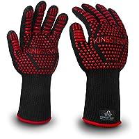 KINGSTEYN guantes de cocina N°1 – Guantes para horno resistente al calor hasta 500° C (1 par) – certificación EN407 – 35cm largo guantes per barbacoa - extra largo protección del antebrazo
