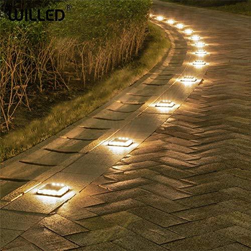 Schritt Treppe Solar Light Cube führte Außenleuchte Garten wasserdichte Lichter U-Wand Embedded Lighting Schritte harte Fall Last-Warmes Weiß