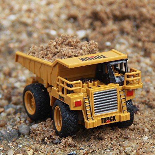 RC Auto kaufen Baufahrzeug Bild 6: Mecotech RC Auto Mini Ferngesteuerte Autos 1:64 Skala RC LKW Gabelstapler Ferngesteuert Baufahrzeuge Spielzeug für Kinder ab 6 Jahren*