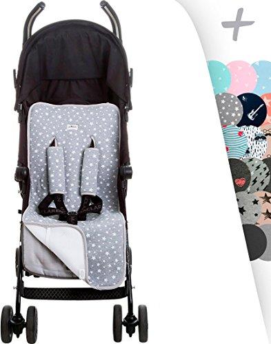 JANABEBE - Cuscino Universale per Sedile Passeggino + Protezioni Comfort per Cintura di Sicurezza