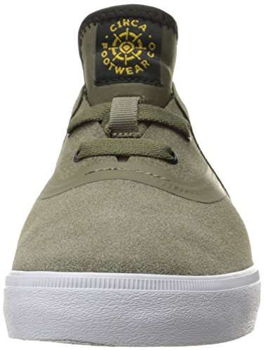 C1RCA Mens Morrow Low Profile Durable Lightweight Skate Skateboarding-Shoes Sage/White
