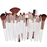 25pcs Pennelli per il trucco bellezza Set Foundation Power Blush eye shadow Brow Lash ventola faccia a labbro compongono Kabuki Pennello Tool Kit nastro bianco