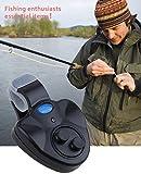 mymotto LED Clip Light Pesca del Mar o Río Rod electrónico de mordedura alarma de pescado Ringer batería