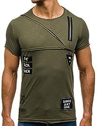 BOLF – T-shirt – Manches courtes – Col rond – Slim fit – Classique – Imprimé – Motif – Homme [3C3]
