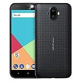 Ulefone S7 Smartphone Libres Baratos Android 7.0, 5 Pulgadas Pantalla, Cámara Triple 8MP+5MP+5MP, Quad Core MTK 6580 1.3GHz, 1GB RAM+8GB ROM, Batería 2500mAh, Doble SIM 3G Teléfono Móvil (Negro)