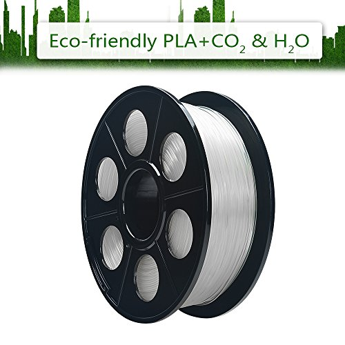 comprare on line ELUTENG 3D Printer Ink 1 kg PLA+ Flexible Filament 1.75mm Transparent PLA Filament Accuracy +/- 0.02 mm 3D Print Material for Geeetech 3D Printers and Pens Natural Clear prezzo