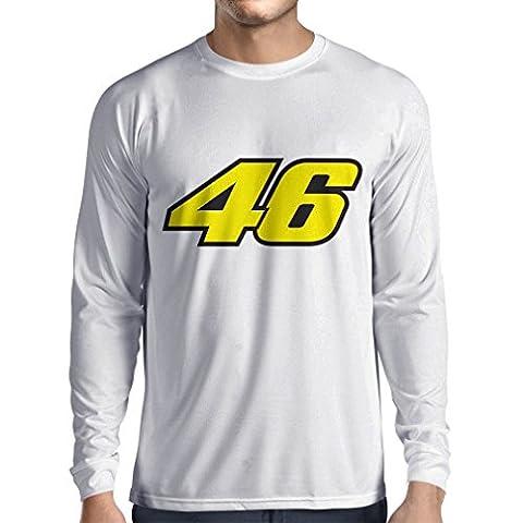 N4445L T-shirt à manches longues N46 (Small Blanc Multicolore)