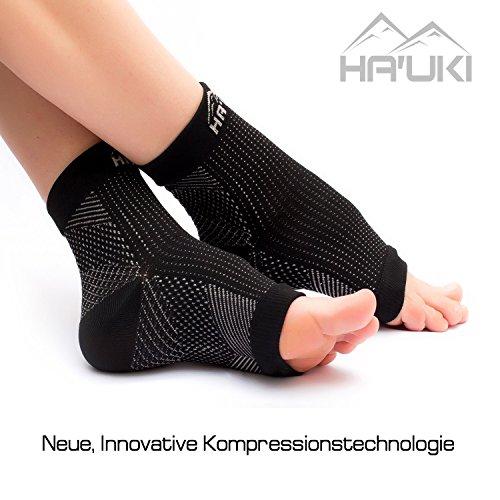 Fußbandage für optimale Kompression beim Sport, Laufen oder Unterstützung bei Plantar Fasciitis, Fersensporn – Kompressionssocken / Kompressionsstrümpfe für Männer und Frauen (Dünne Socken Laufen)