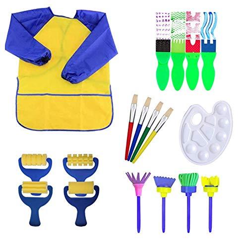 18 Stücke Schwamm Malerei Pinsel Stempel Pinsel Set Schminke Kinder Früherziehung Zeichnung Werkzeuge für Kunst Handwerk DIY
