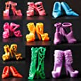 10 Pair Mixed High Heel Shoes For 29cm Barbie Doll Clothes Accessories
