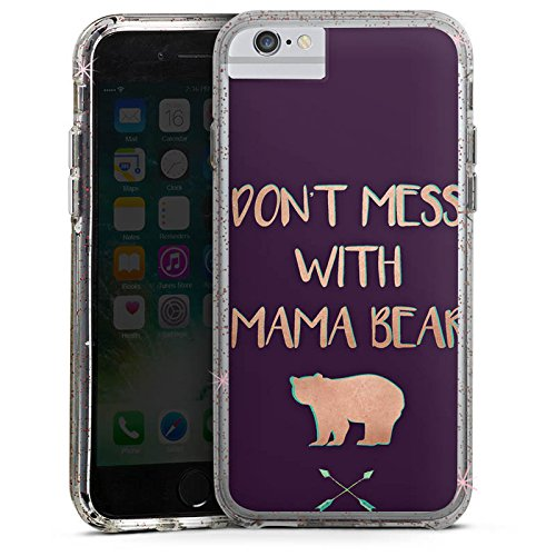 Apple iPhone 6 Bumper Hülle Bumper Case Glitzer Hülle Muttertag Mutter Mother Bumper Case Glitzer rose gold