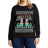 Weihnachtspulli Christmas Sweater Damen Sweatshirt Pullover Merry Christmas Rentier Weihnachten Pulli Elf von Innerternet