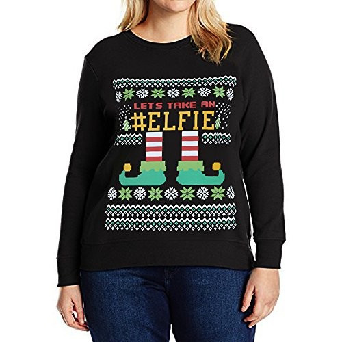 Weihnachtspulli Christmas Sweater Damen Sweatshirt Pullover Merry Christmas -
