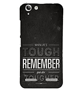 Life is Tough Remember Together 3D Hard Polycarbonate Designer Back Case Cover for Lenovo Vibe K5 Plus :: Lenovo Vibe K5+