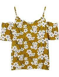 OVINEE Vestido,Vestido SeñOras De Las Mujeres Florales del Hombro Camiseta Manga Corta Tops Blusa Camisa SóLida Playa Princesa Mujer NiñA Fiesta Ropa Falda Chaleco Camisetas